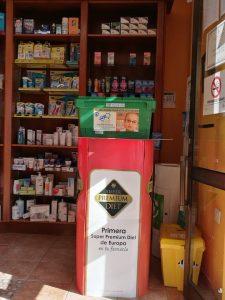 Farmacia Puntallana colaborando con Cofarte y el Club de Leones de Santa Cruz de Tenerife en el Programa de Reciclaje en pro de la Vista.
